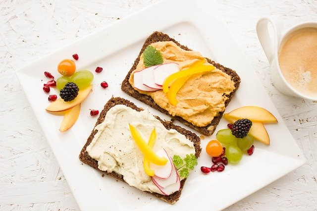 healthy breakfast, fruit and grains, healthy dish