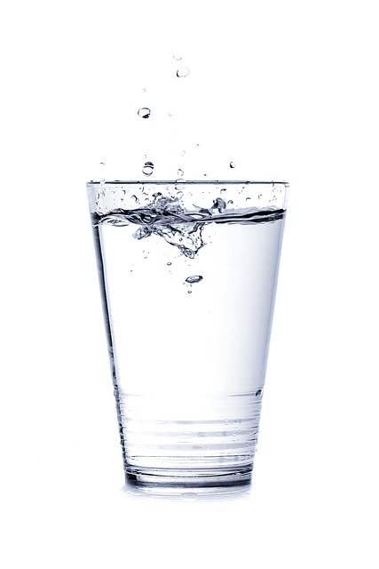 drinking enough water, water glass